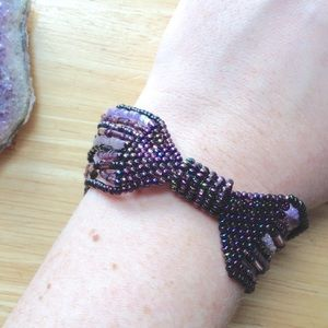 Jewelry - 💜 Beaded bracelet with magnetic clasp 💜 EUC!